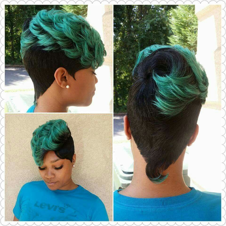 Not sure how i feel about it but itus green hair styles