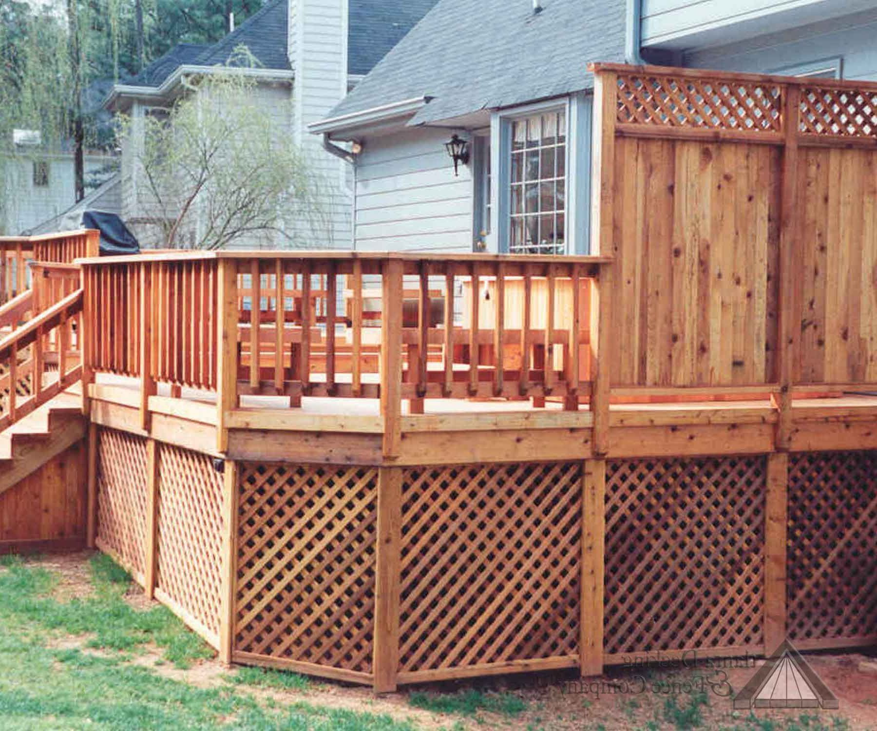 Privacy Screen Made of Wood for Deck Idea Attractive Deck Ideas