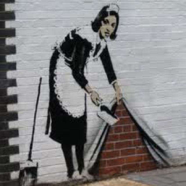 Robert Banksy graffiti art. Just discovered him today. So amazing.