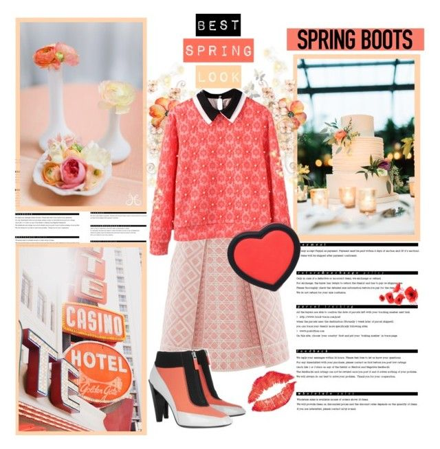 """""""Be A Flamingo In A Flock Of Pigeons"""" by verenagyuneth ❤ liked on Polyvore featuring Arche, Temperley London, Kenzo, 3AM Imports and springboots"""
