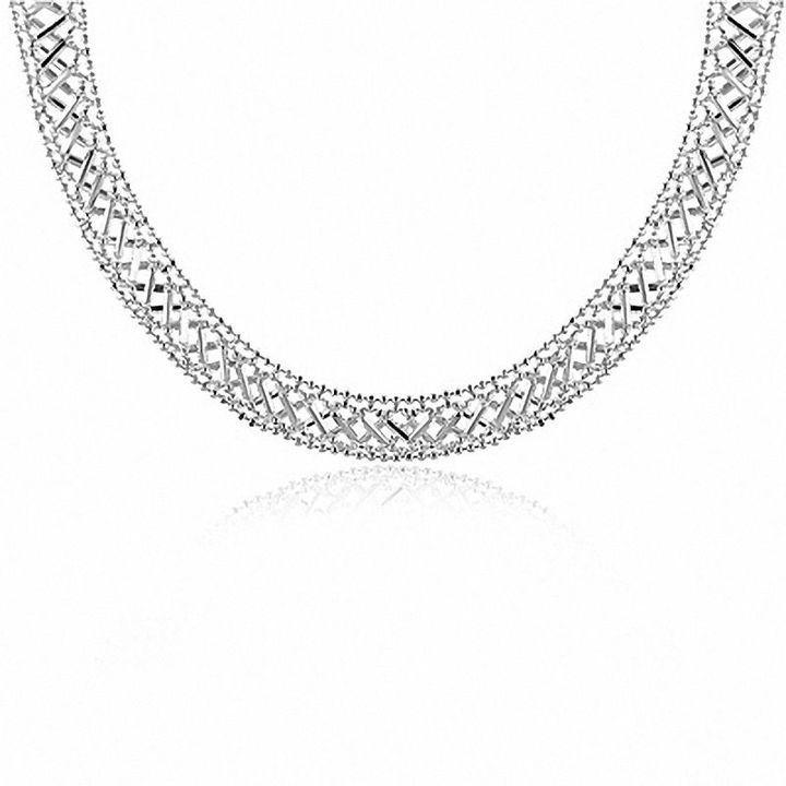 Zales Sterling Silver Beaded Bib Necklace - 17 rWRhsSh