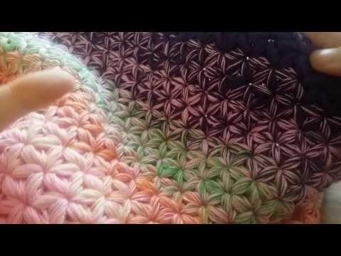 Häkelanleitung für den Sternen Loop 1.Video - YouTube | häkel Spaß ...