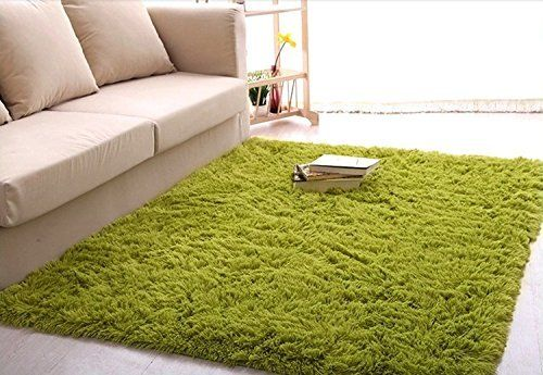 Amazon Com Ultra Soft 4 5 Cm Thick Indoor Morden Area Rugs Pads New Arrival Fashion Color Bedroom Livingroom Rugs In Living Room Green Rug Grass Carpet