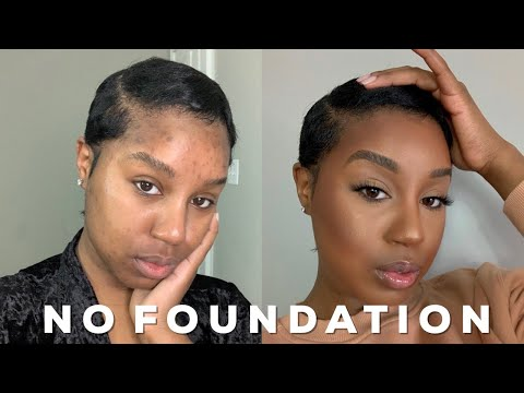 flawless no foundation makeup routine beginner friendly