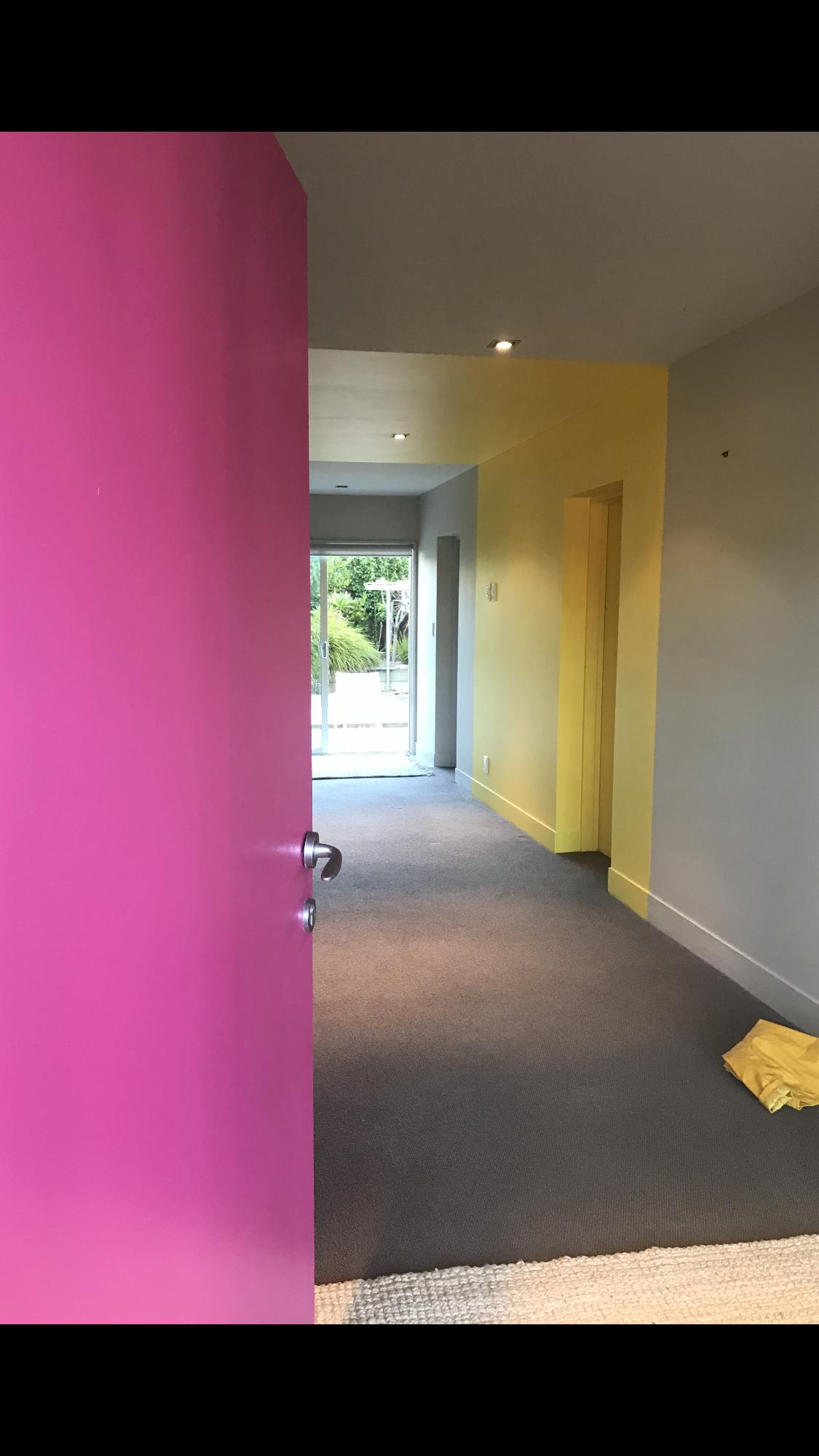 #pinkdoor #pinkandyellow