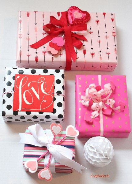 Gift Wrap Inspiration Valentine S Day Hearts Arrows Gift