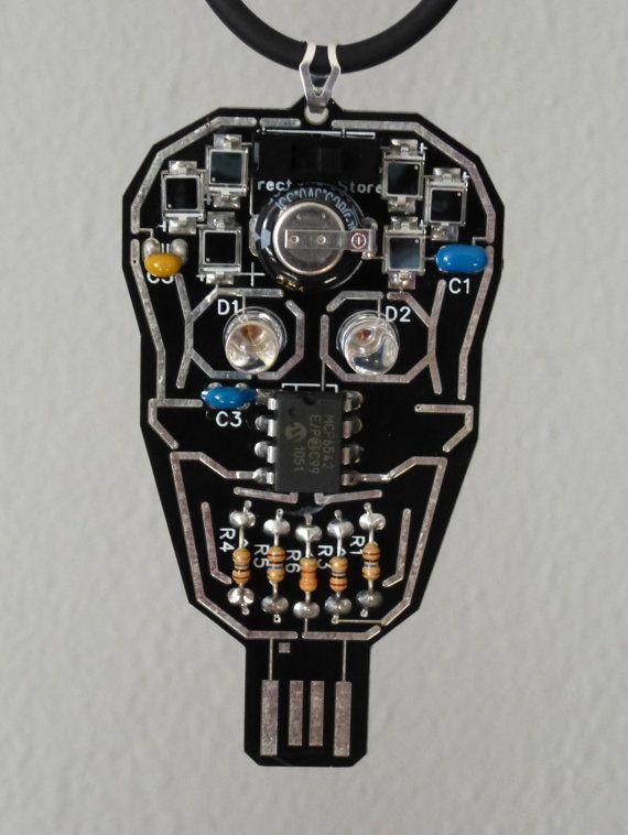 intermediate kit make your own blinking skull solar powered rh pinterest com