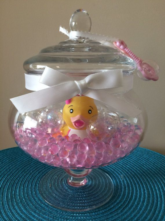 girl baby shower party favor rubber duck by