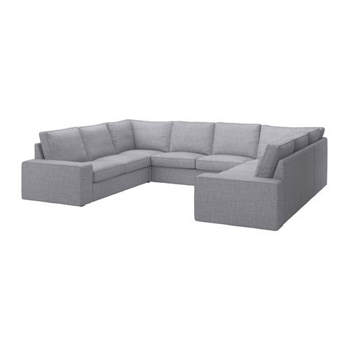 kivik canap en u 8 places isunda gris ikea. Black Bedroom Furniture Sets. Home Design Ideas