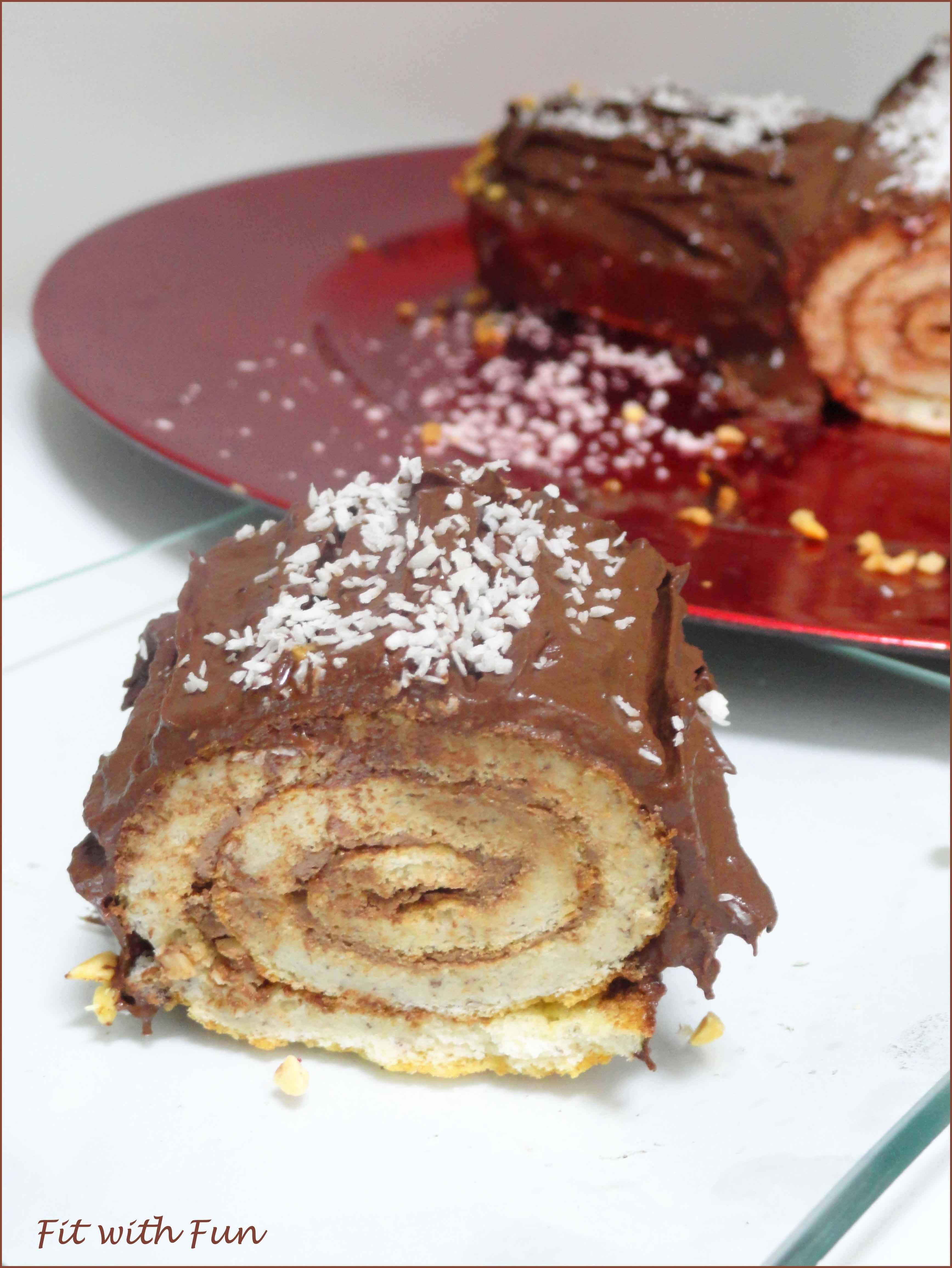 Tronchetto Di Natale Light.The Healthy Gluten Free Chocolate Christmas Log