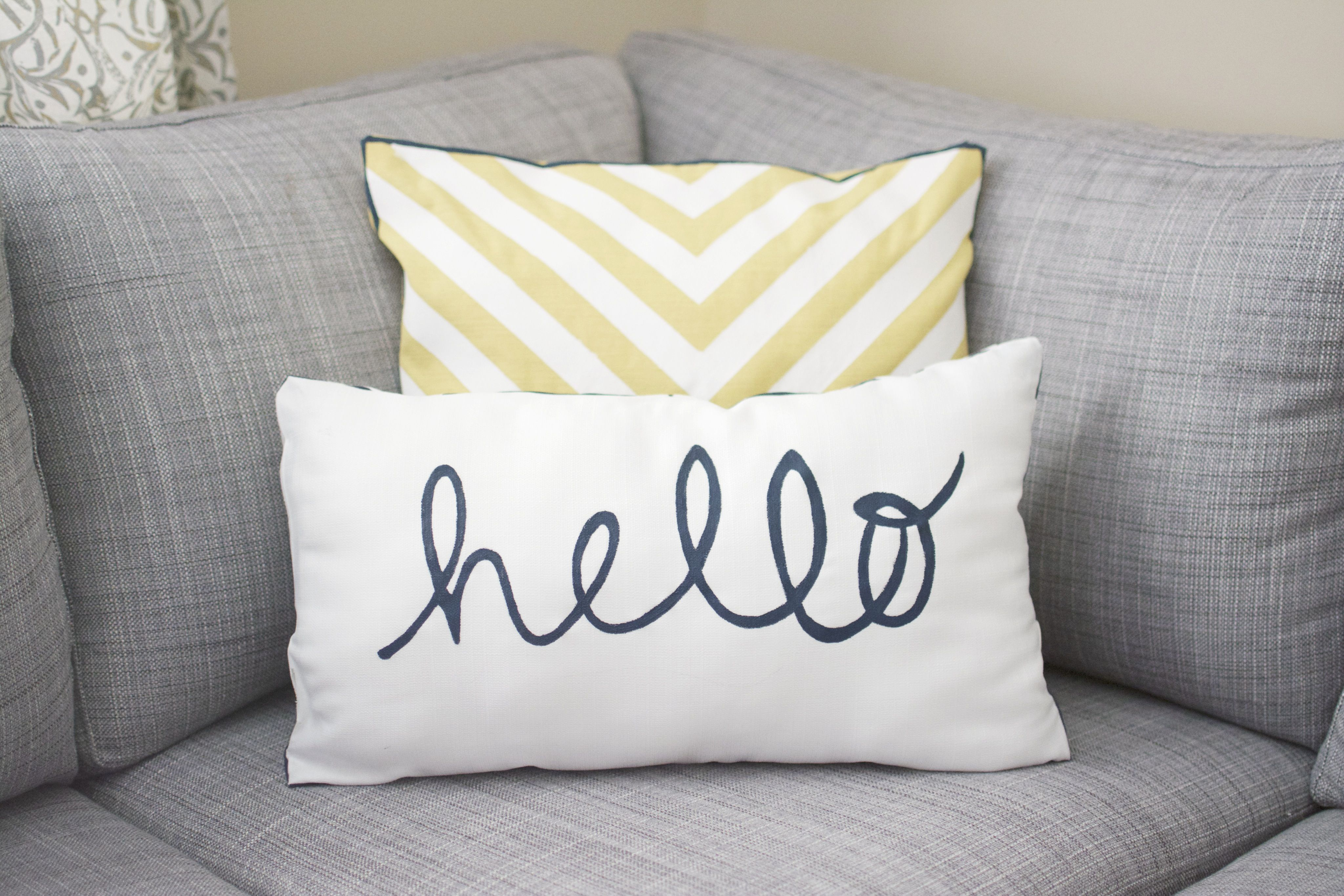 Diy Painted Pillows Diy No Sew Pillow Case Hello My Crafts