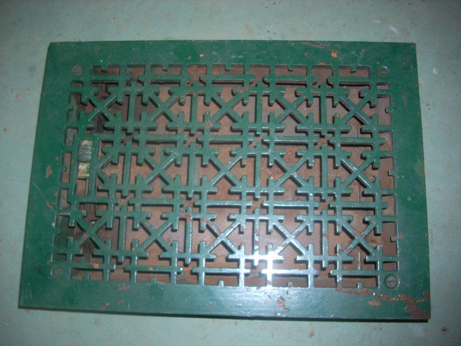 Antique Tuttle Bailey Cast Iron Floor Heat Vent 12x8 Ornate It Cast Antique Hardware Antiques
