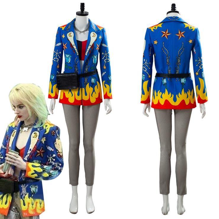 Birds of Prey Fantabulous Emancipation of One Harley Quinn Cosplay Costume Coat