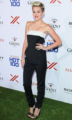 Miley Cyrus Keeps It Simple Celebrating Maxim's Hot 100