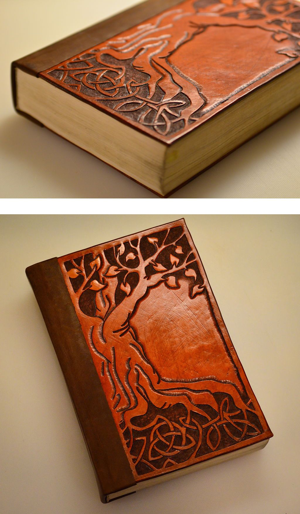Bind A Book In Tooled Leather Book Binding Diy Leather