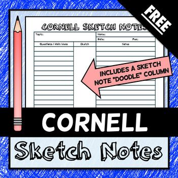 This is a Cornell note template that engages the visual learner I - cornell note template