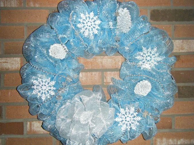 Photo of Winter Wonderland Deco Mesh wreath
