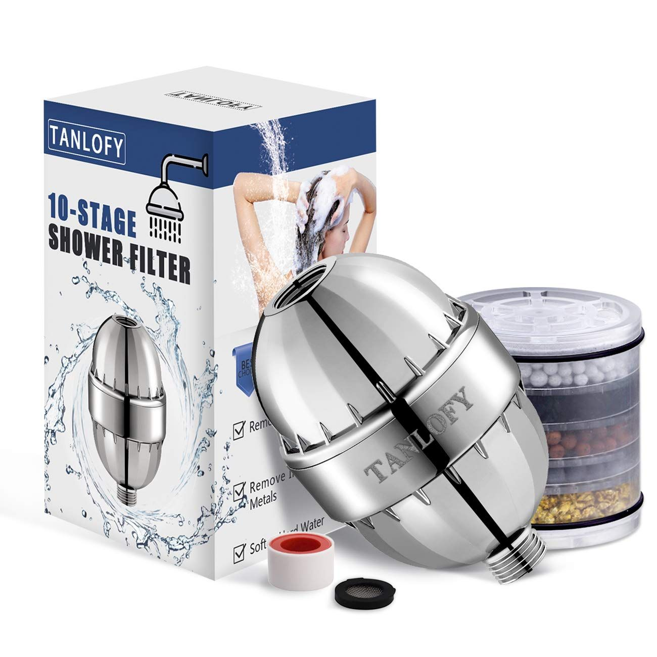 Tanlofy Shower Filter Water Softener With 10 Filter Layers