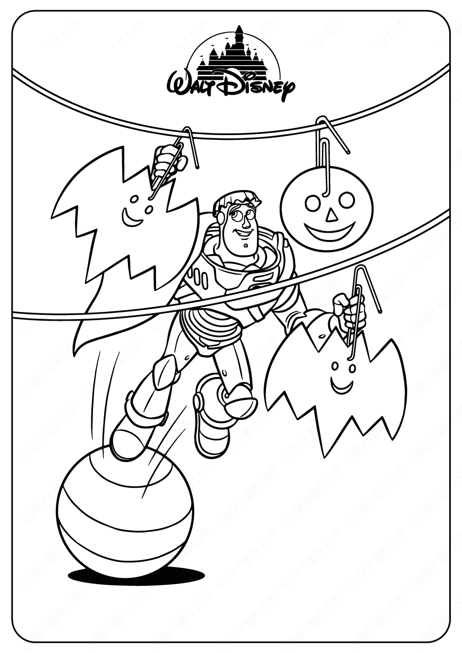 Buzz Halloween Coloring Pages Halloween Coloring Pages Halloween Coloring Disney Coloring Sheets