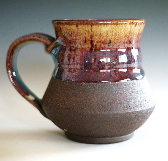 Exceptional Large Coffee Mug, 16 Oz, Handmade Ceramic Cup, Coffee Cup