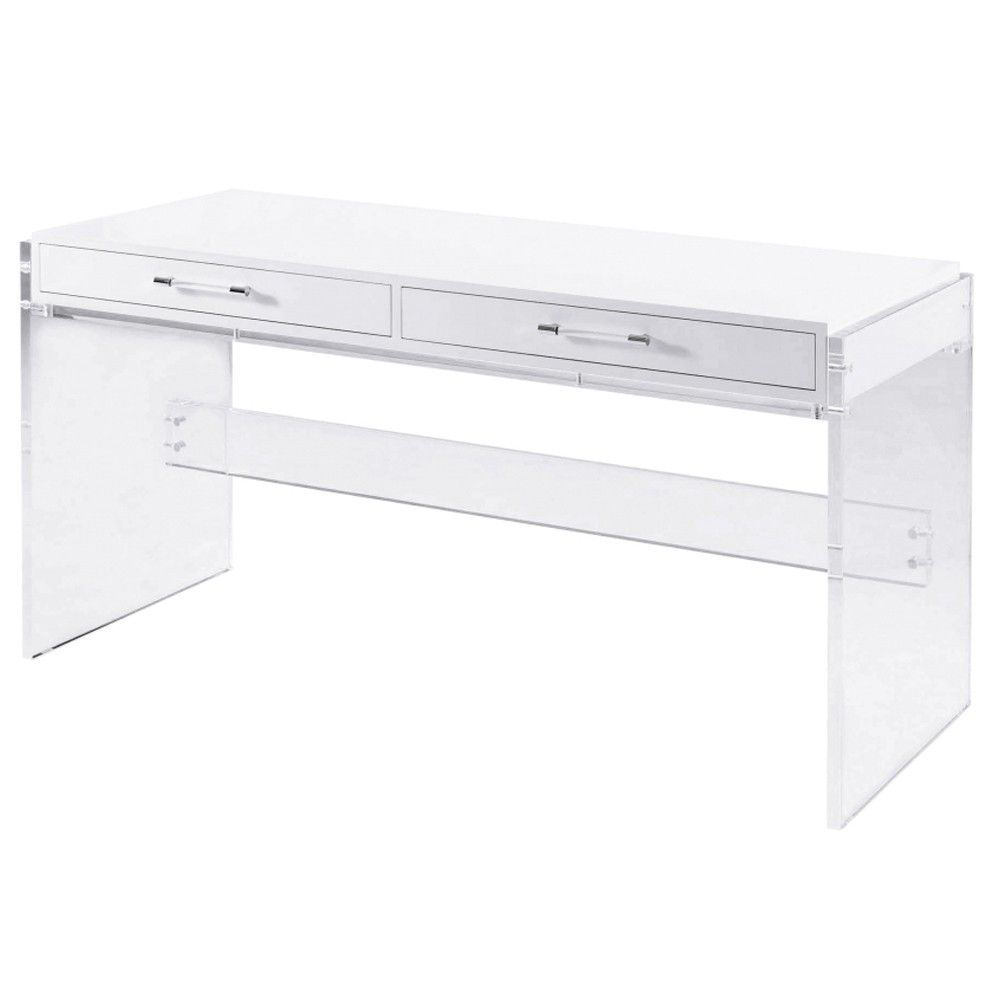 Acrylic Table Base And Stretchers Acrylic Rod Drawer Pull With Polished  Stainlesss Keepers Soft Close, Metal Drawer Slides