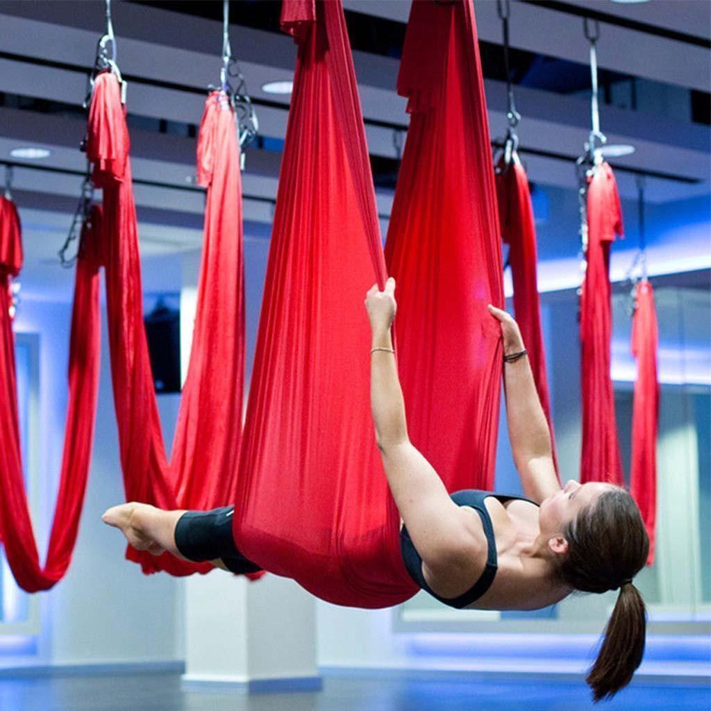 Elastic antigravity yoga swing hammock aerial inversion strap