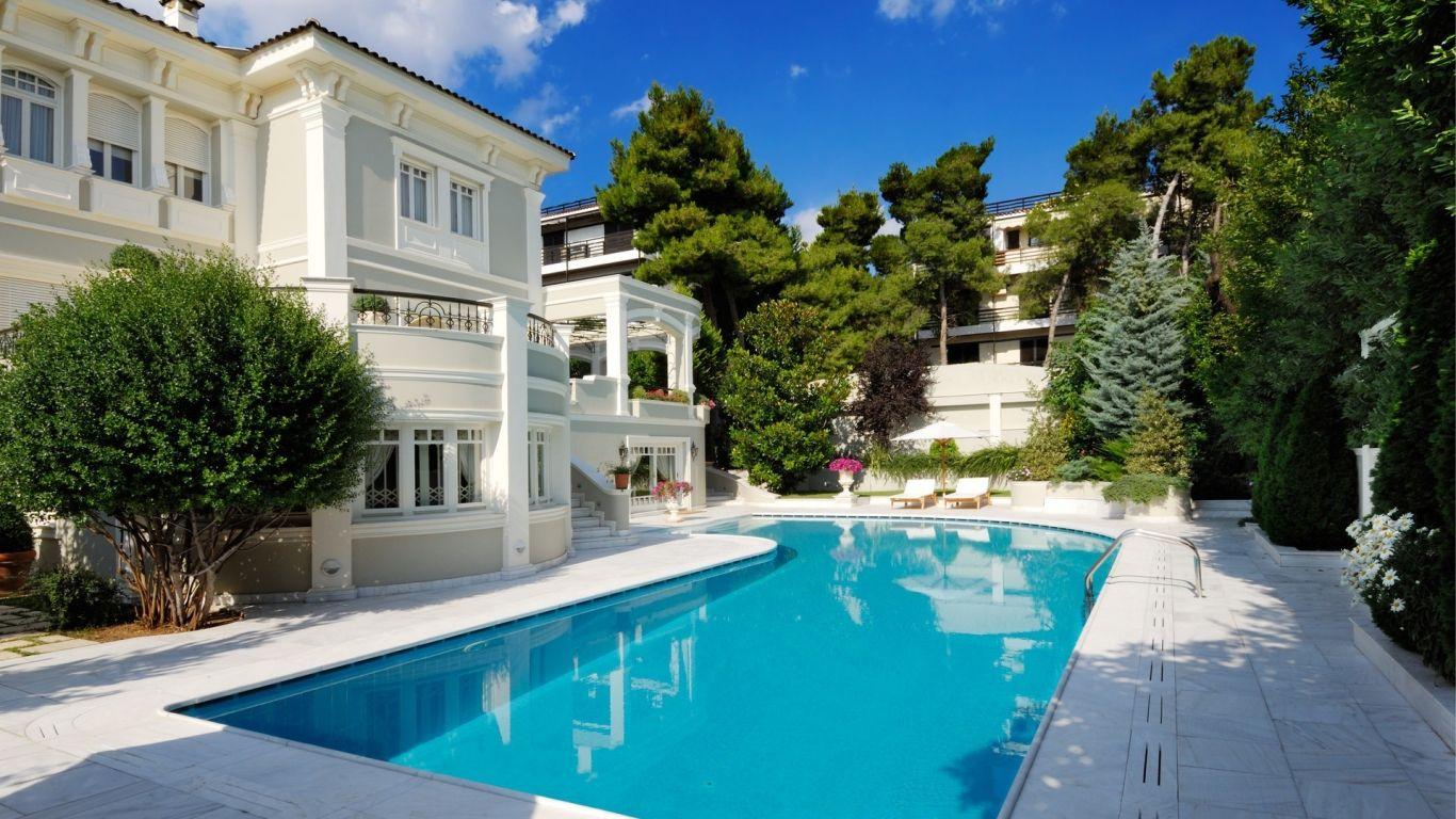 Resultado De Imagen Para Casas Lujosas Con Piscina Y Jardin Beautiful Homes Mansions Luxury Pools