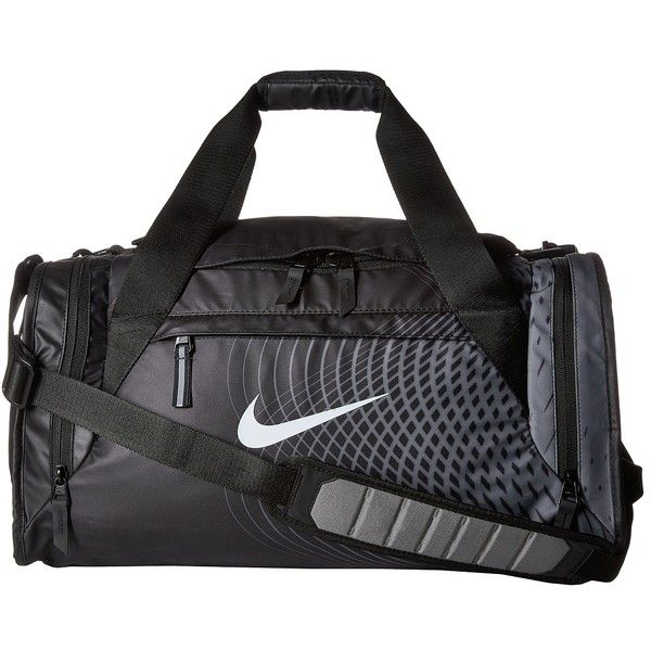 c6048cf7a6 Nike Ultimatum Small Duffel - Graphic (Black Tumbled Grey White)... ( 80) ❤  liked on Polyvore featuring bags and luggage