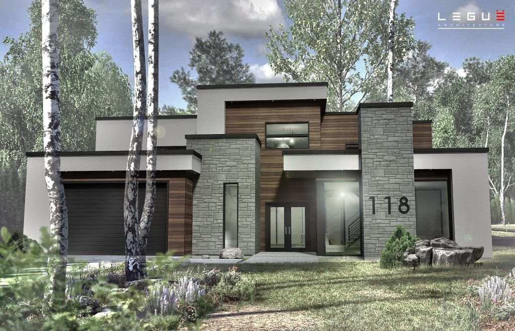Plan de Maison Moderne Ë_118 Leguë Architecture Maisons