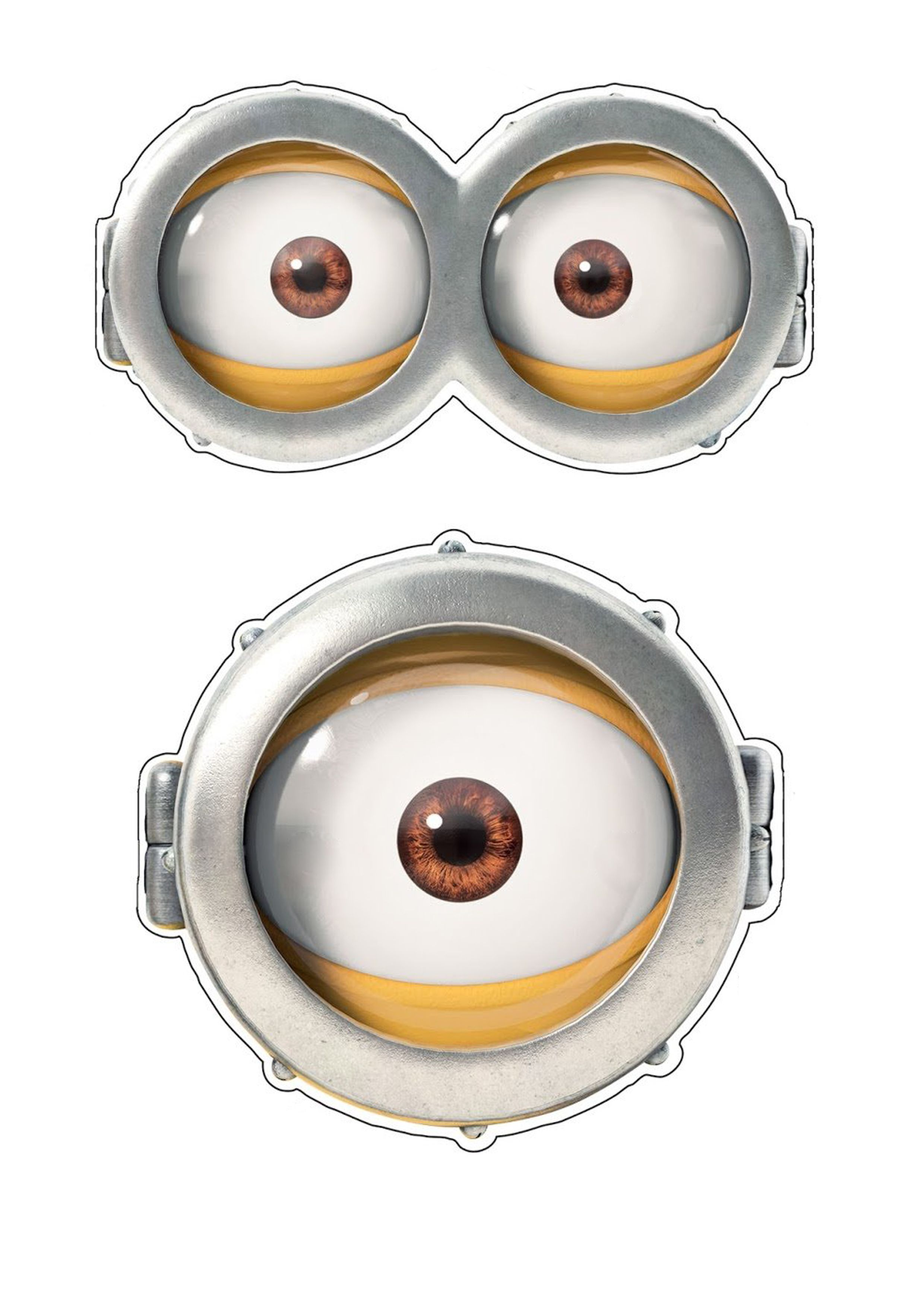 Adorable image throughout minion eye printable