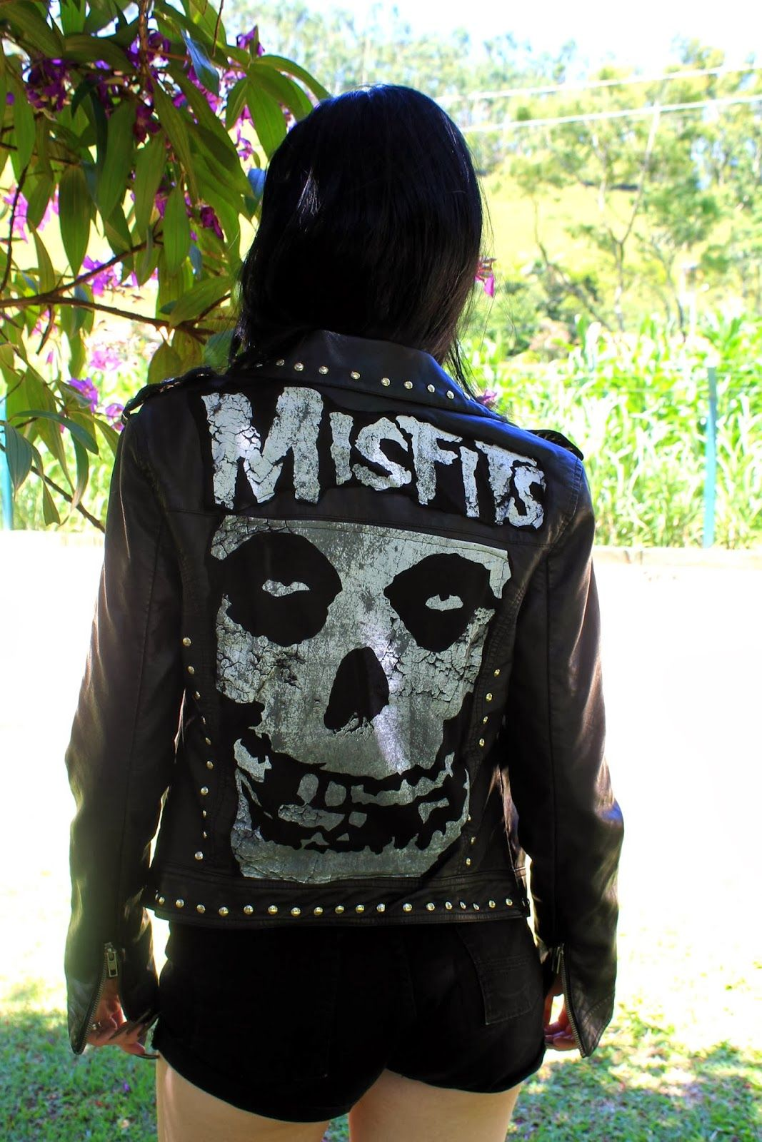 Misfits leather jacket.