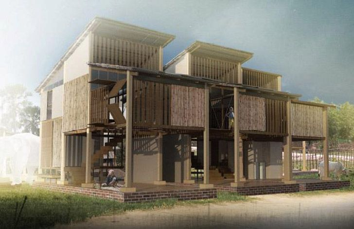 Building Trust International Announces Winners Of Competition For Sustainable Low Income Housing In Cambodia Green Building Architecture Architecture Concept Architecture