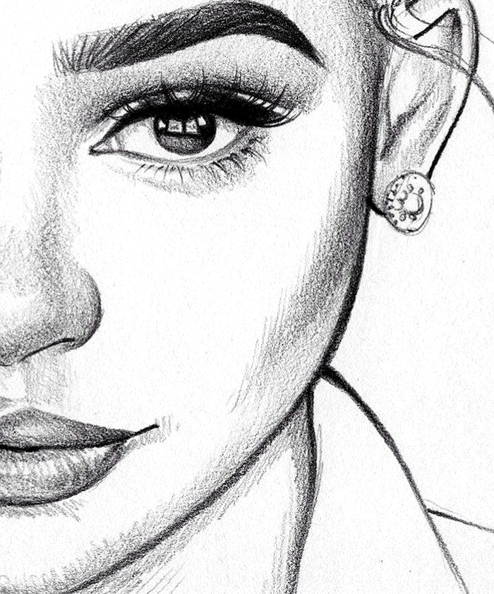 1001 Ideas How To Draw A Girl Tutorials And Pictures Draw Girl Ideas Pictures Tutorials Female Face Drawing Portrait Drawing Face Drawing
