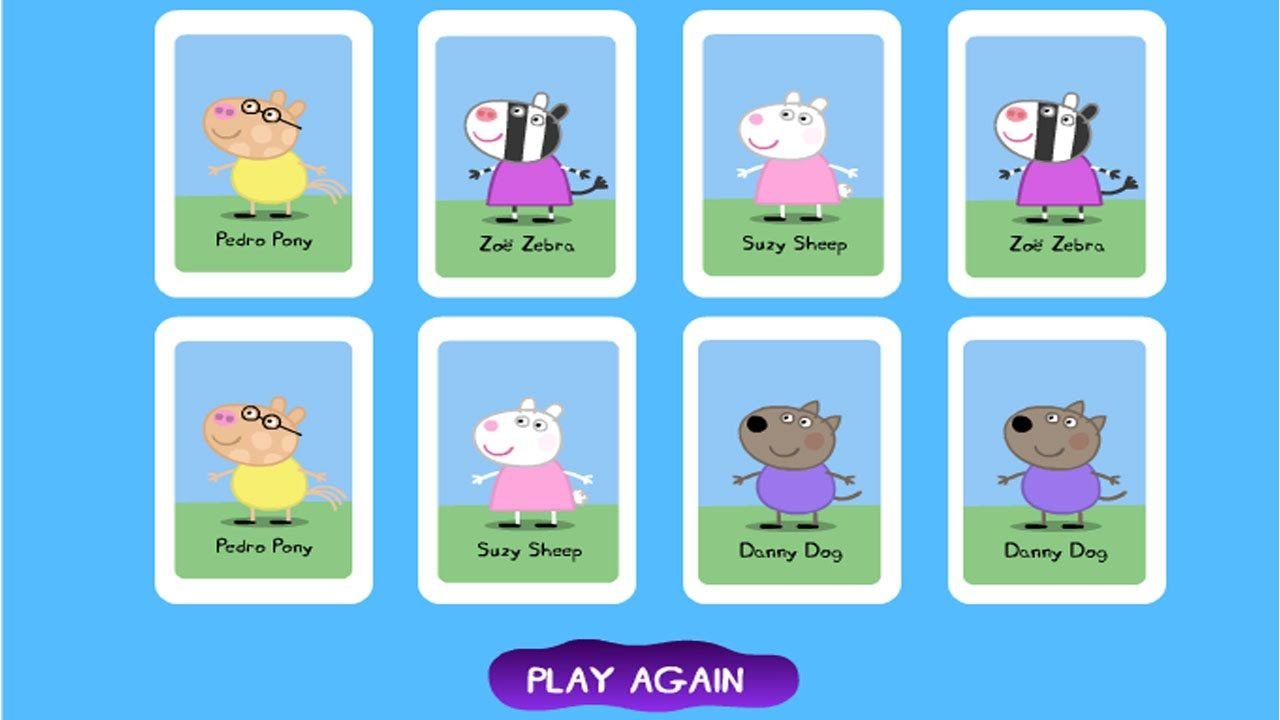 Pe peppa pig coloring pictures to print - Peppa Pig Matching Pairs Game Free Online Peppa Pig Games