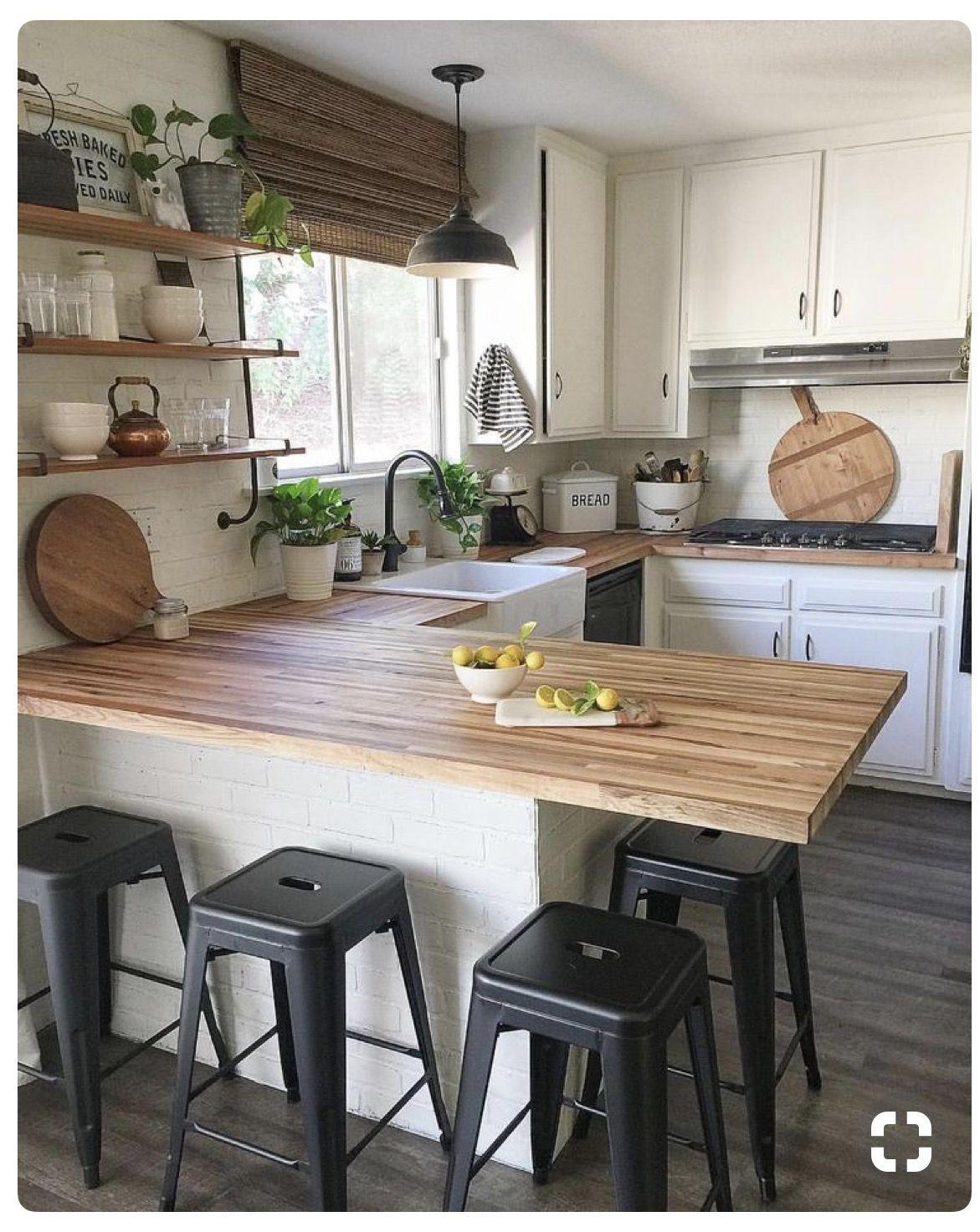 Small classy modern farmhouse kitchen Ikea kitchen