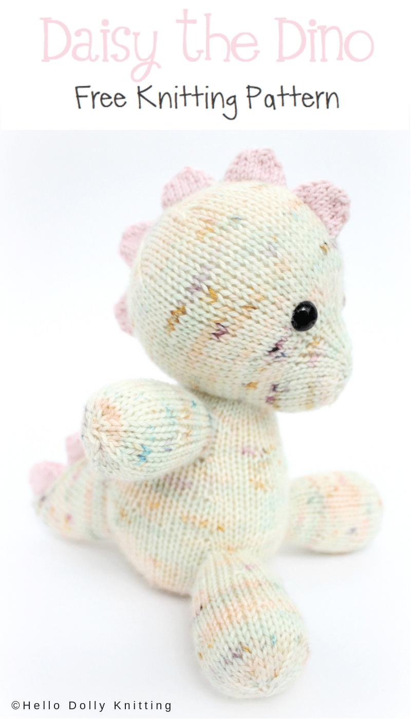 Free Knitting Pattern - Daisy the Baby Dino PDF Knitting Pattern ...