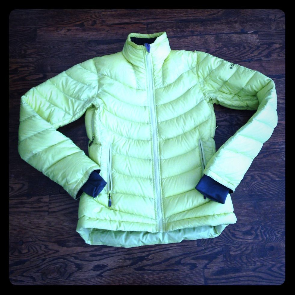 Columbia neon jacket thermal comfort omniheat xs thermal comfort