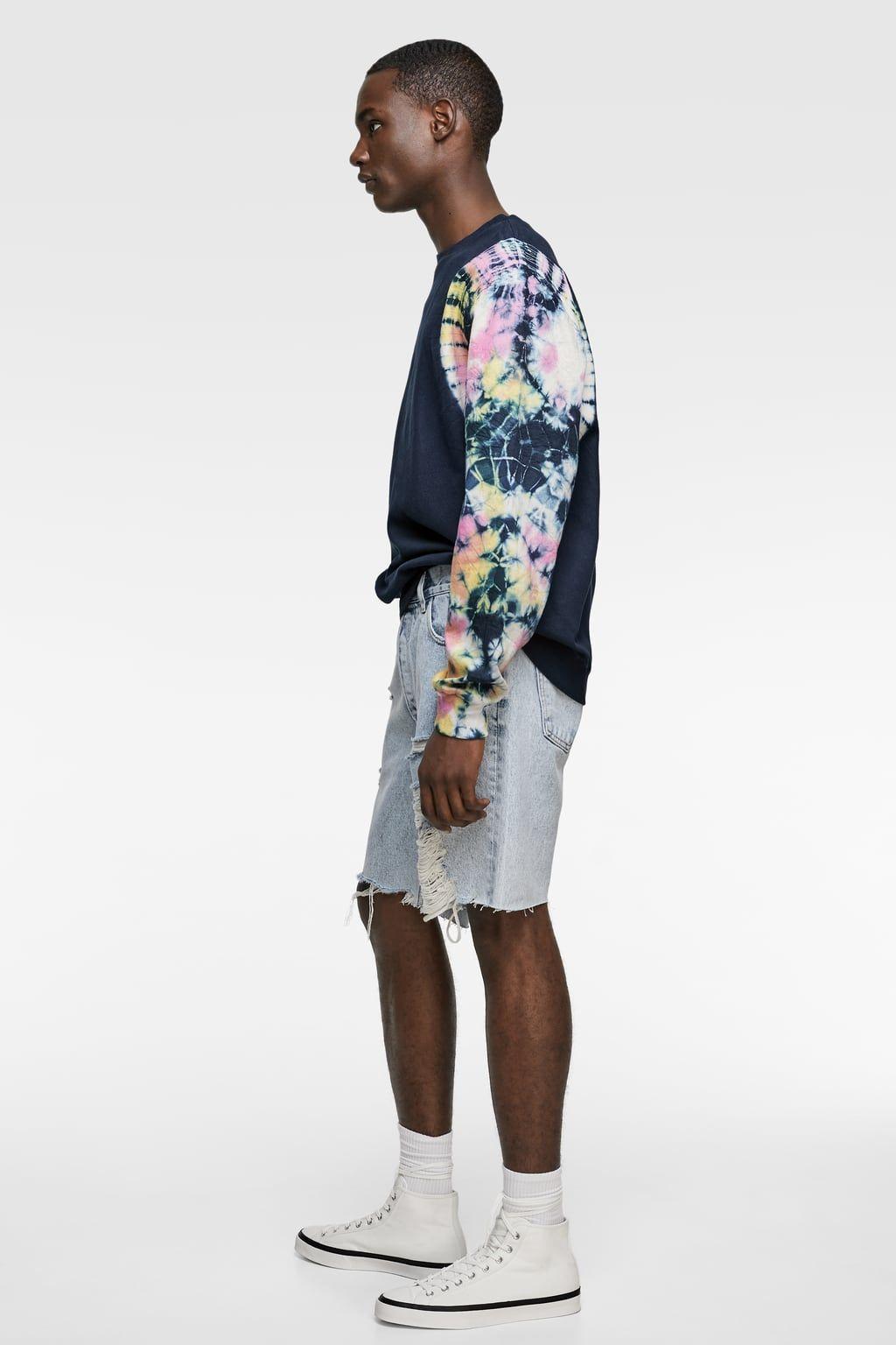 Image 5 Of Sweatshirt With Tie Dye Sleeves From Zara Modestil [ 1536 x 1024 Pixel ]