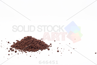 stock photo of grains and cocoa powder on a white background