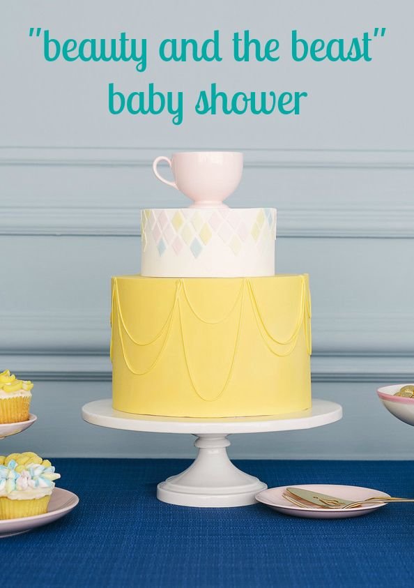 baby shower inspired by beauty and the beast disney beauty