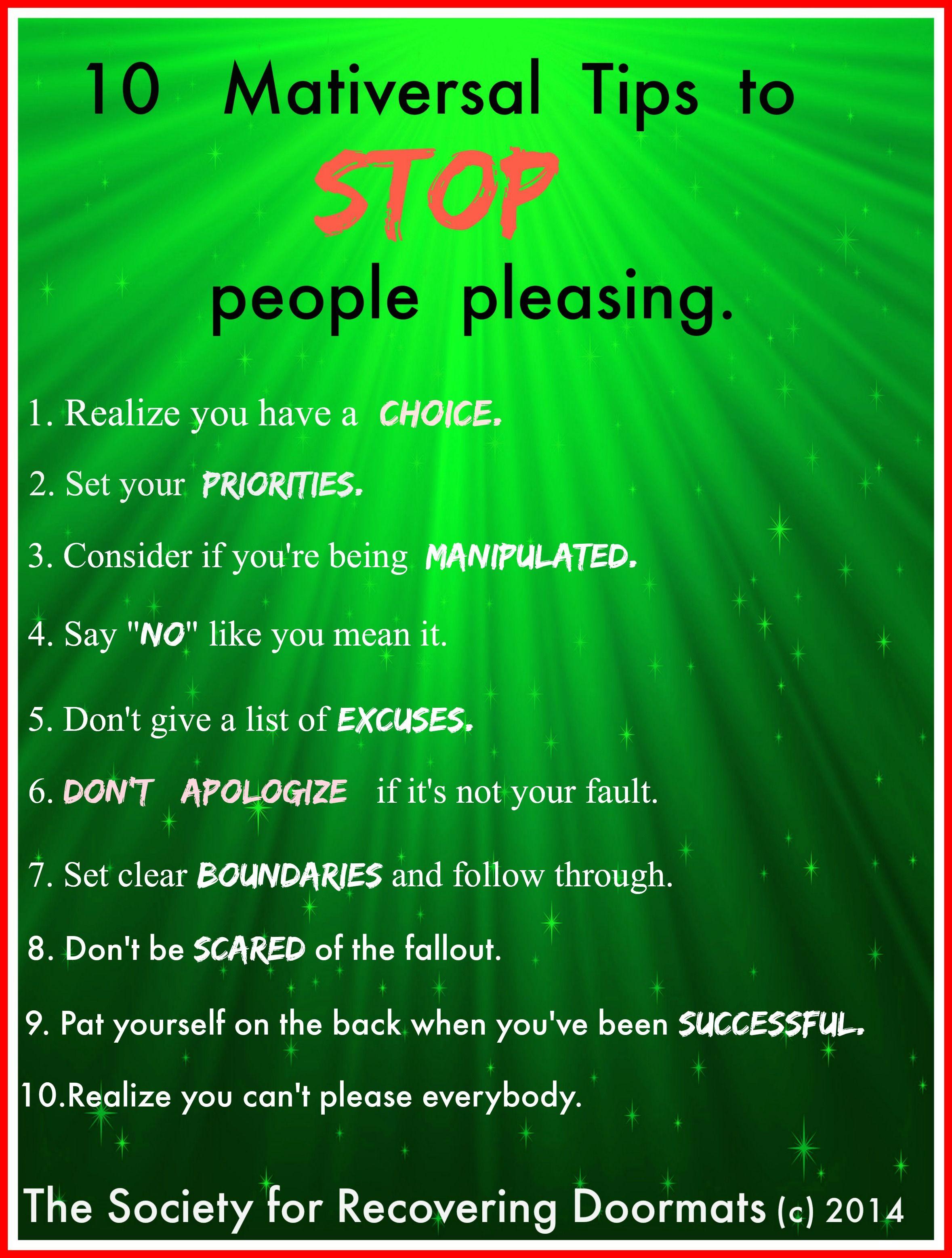 10 Maativersal Tips To Stop People Pleasing