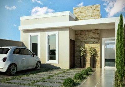 fachadas para casas pequeñas fotos 3d