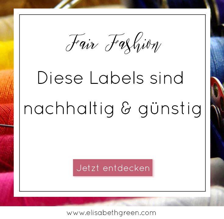 10 günstige Fair Fashion Labels to watch | Faire kleidung ...