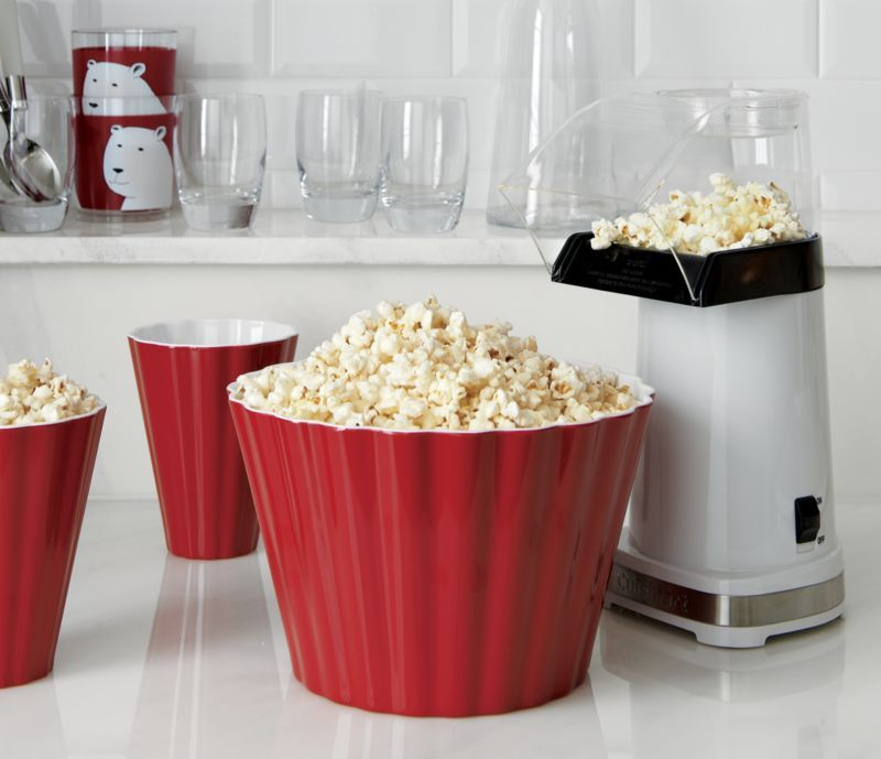 Scalloped Melamine Popcorn Tub Products Air Popcorn Maker