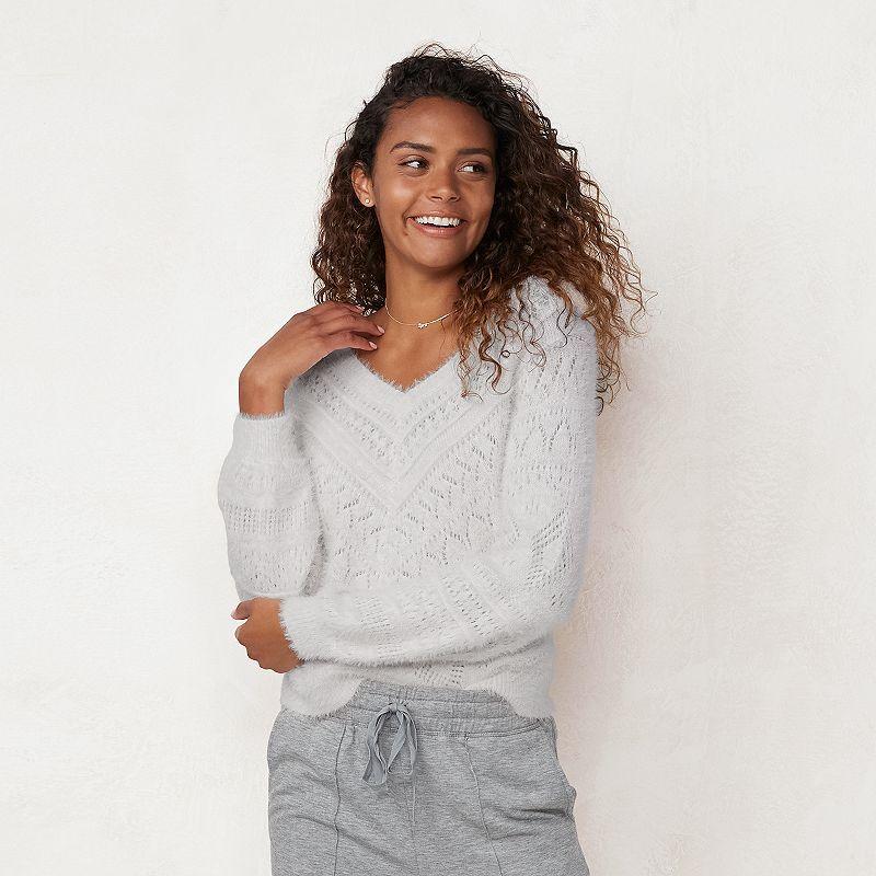 Petite LC Lauren Conrad Ruffle-Sleeve Top | Ruffled sleeve
