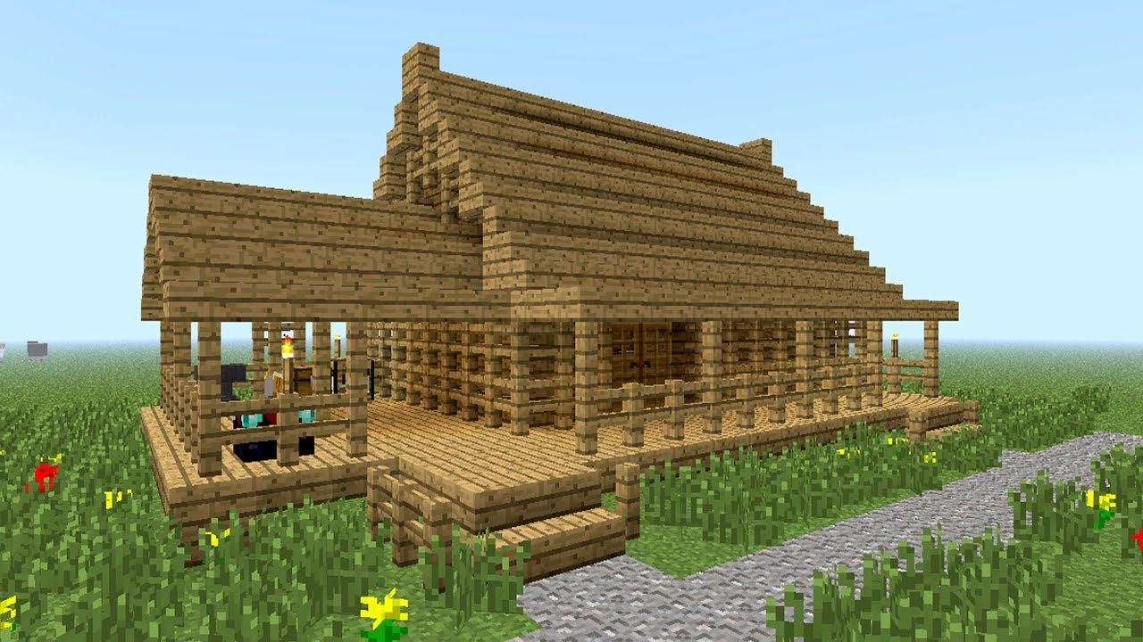 Minecraft How To Build Little Wooden House You