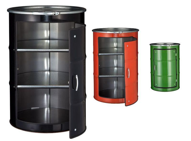 CABIN Schranksystem aus Ölfässern. +++ schwarz +++ handgemacht …