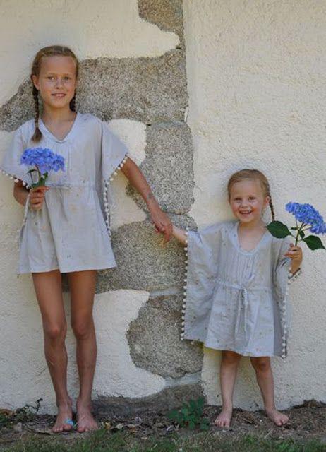 Túnica niña #Chandamama #vestidoplayero #modaniña #beachwear ...