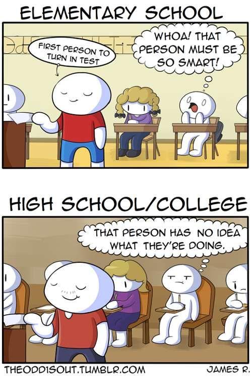 Theodd1sout  Elementary vs High School Tapastic Comics - image 1