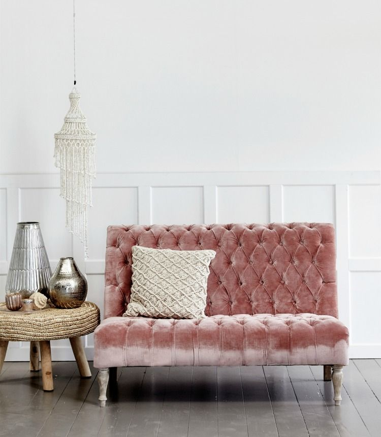10 Beautiful Rooms Pink Sofa Home Decor Pink Velvet Couch
